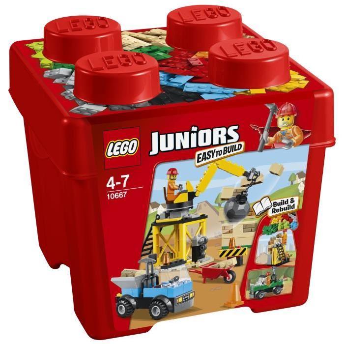 LEGO Juniors 10667 La Boîte de Construction du Chantier 160 pièces