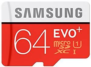 64 Go Carte mémoire EVO Plus Micro SD Classe 10 avec adaptateur SD
