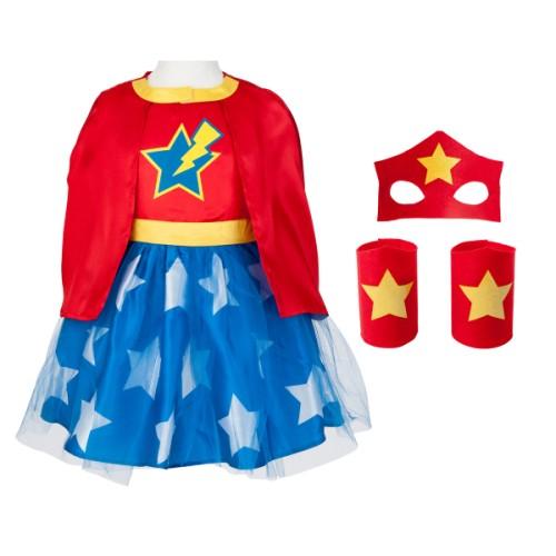 Déguisement Super Girl Héros 6 8 ans Imagibul création Oxybul pour