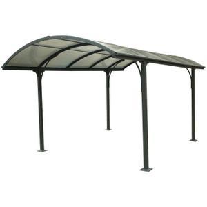 CARPORT Carport en aluminium 14,62 m² 301,5 x 485 cm Gr