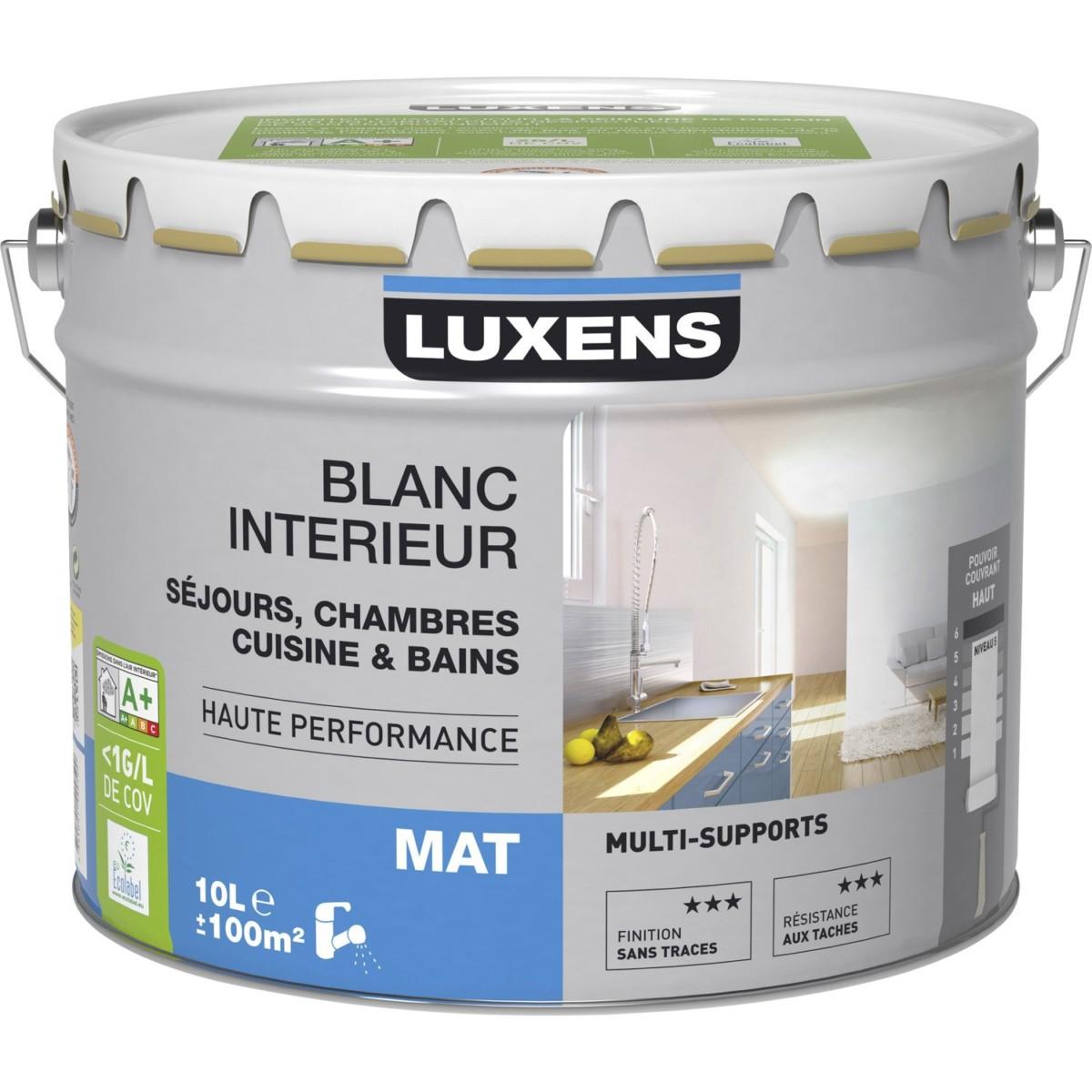 Peinture multisupport LUXENS, mat, 10L |