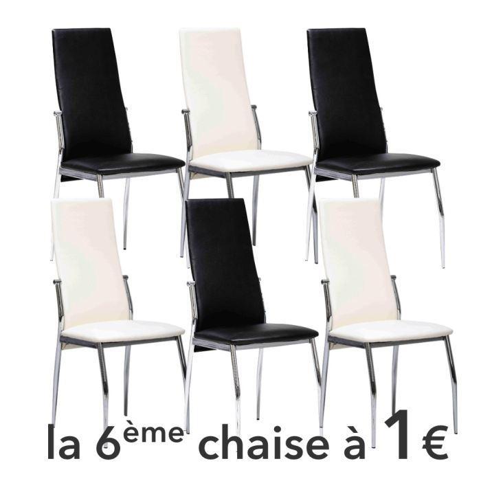 Composition du lot : Lot de 6 Chaises Dimensions : Dimensions : 42 x