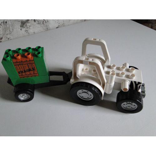 Lego Tracteur Duplo + remorque transport caisson Zoo Lego