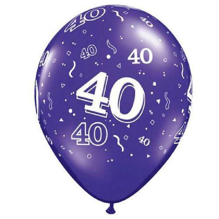 40 ans qualatex assortiment tropical Ballon Taille 11 » (28 cm) par 6