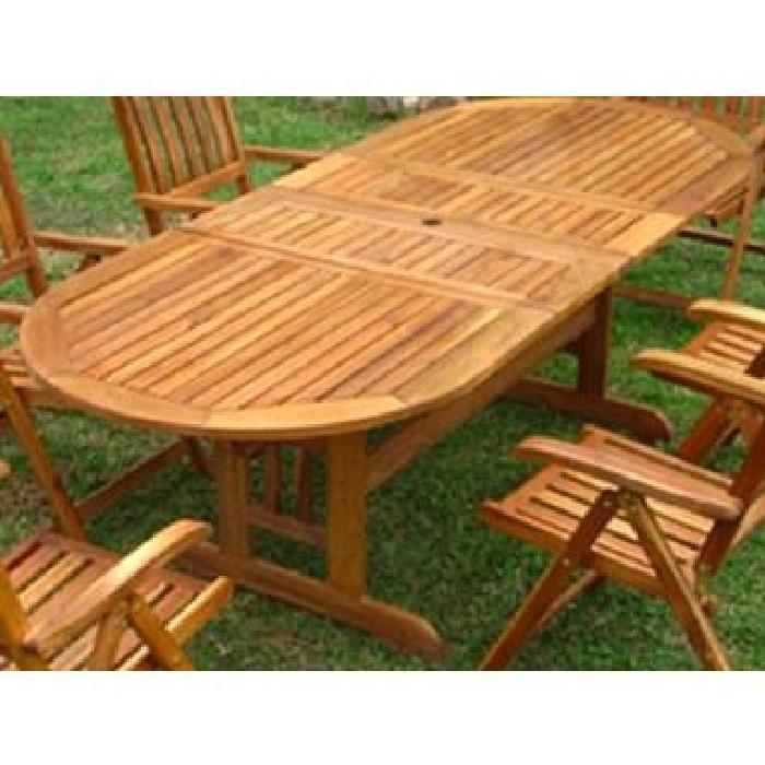 / Vente table de jardin Table de jardin ovale bois ?