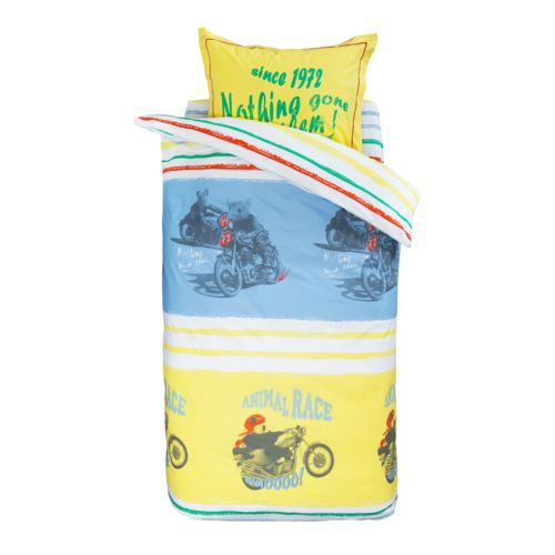 Catimini Taie D'oreiller Rectangle Bikers Jaune 050 X 070 Cm pas