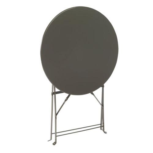 Alinéa Pims Table de jardin pliante ronde Gris x71.0 pas cher
