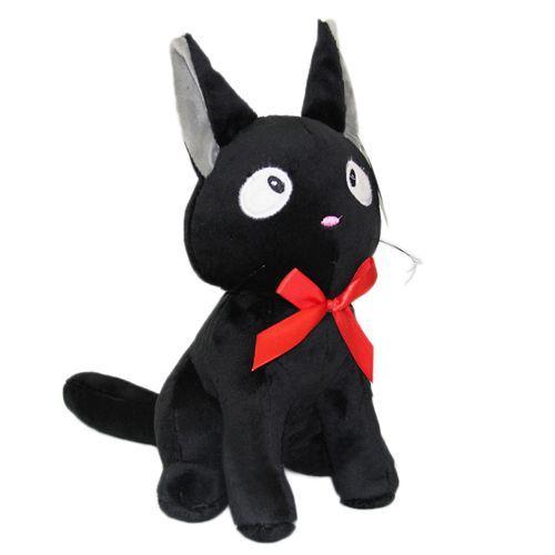 Peluche Chat Noir Kiki La Petite Sorcière. Kawaii Doux Au Toucher