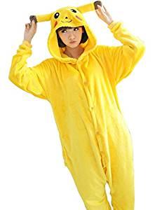 Pikachu pajamas Pyjama/costume pour adulte en forme à l'effigie de