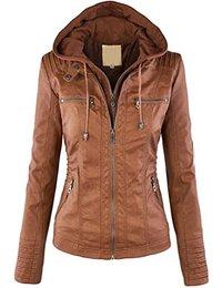 blouson cuir Femme : Vêtements