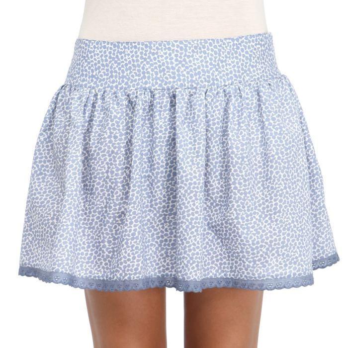 Jupe Femme Bleu clair et blanc Achat / Vente jupe kilt Jupe Femme
