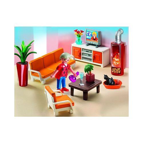 Playmobil 5332 : Salon avec cheminée pas cher Achat / Vente