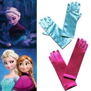 Girls La Reine des Neiges Gants Frozen Elsa Anna Gloves Cosplay Dress