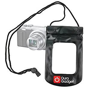 housse noir étanche + tour de cou pour appareil photo Panasonic Lumix