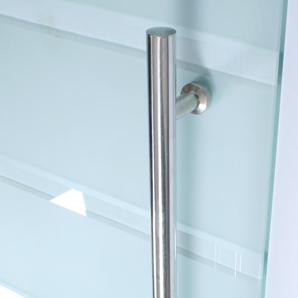 Porte Coulissante EN Verre Pour Intérieur Aluminium Rayures 205×90 CM