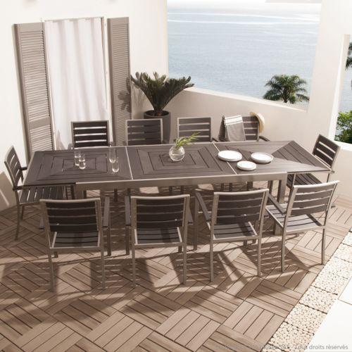 Salon de jardin aluminium 10 places - TopiWall