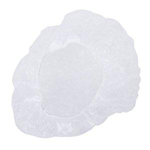 100pcs bonnets de douche de cheveux jetables et clairs pour salon spa