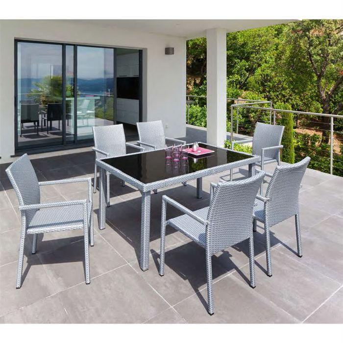de jardin Hespéride UBUD Silver Achat / Vente salon de jardin Table