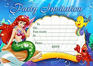 ABV Designs Lot de 10 cartes d'invitation à une fête d'anniversaire