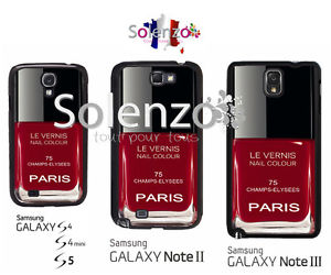 Coque Samsung Galaxy S4 S4 mini S5 Note 2 3 S6 VERNIS A ONGLES NAIL