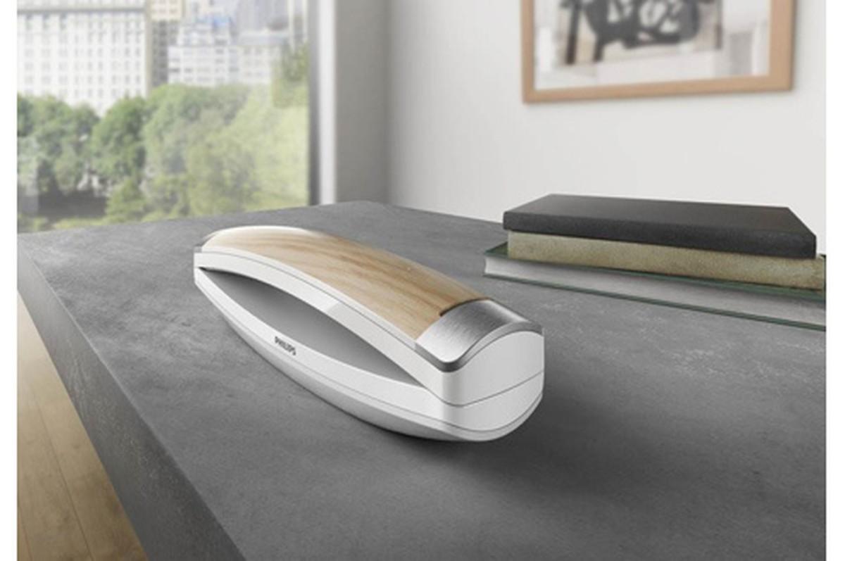 Téléphone sans fil Philips M8 Design Bois et Blanc M8881WW/10