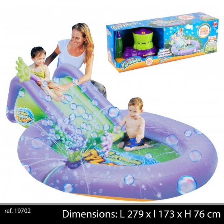 Piscine Gonflable + Toboggan Structure Jeux Gonflable pour Enfants
