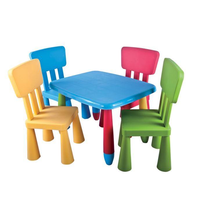 de table et chaises enfant Mamouth (5 pièces) Achat / Vente table