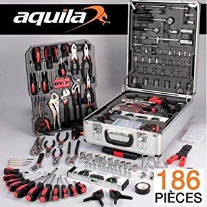 Probache Malette valise outils 186 pcs: Bricolage