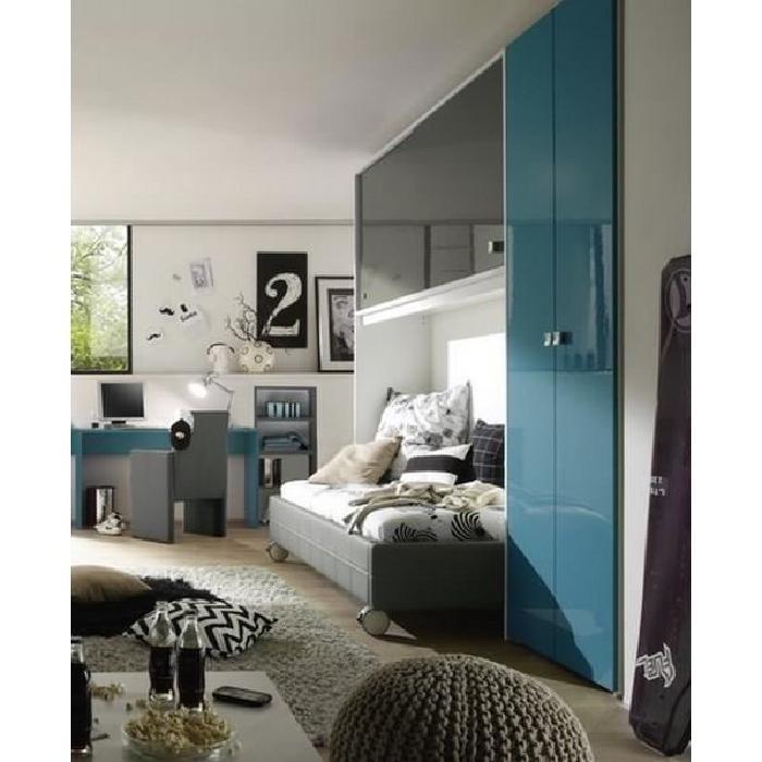Chambre moderne gris/bleu » Campus» Meuble House Achat / Vente