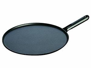 Staub 1213023 Poêle à Crêpes Noir Manche Fonte 30 cm