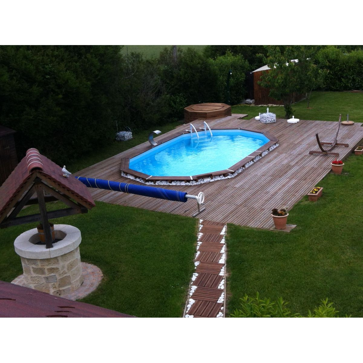 Piscine hors sol bois topiwall for Deco piscine hors sol