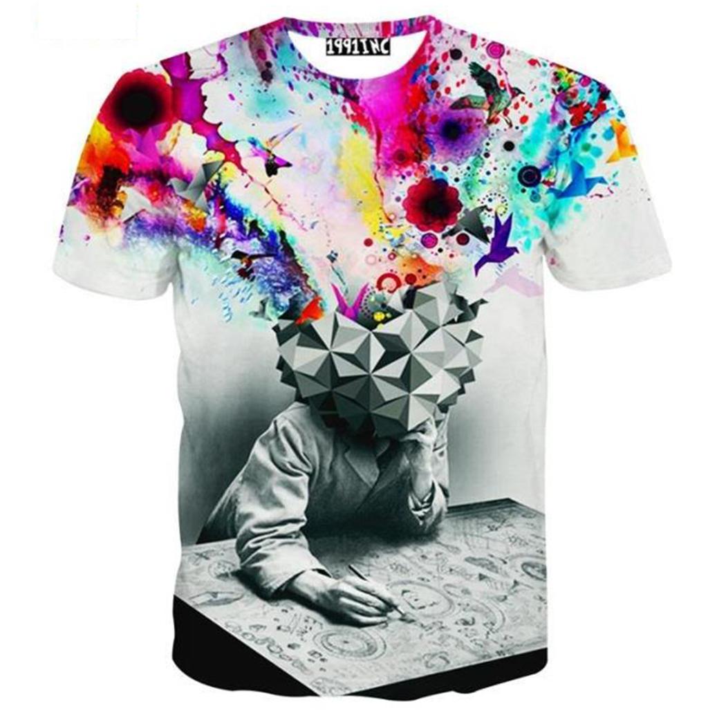 Homme mode tee shirt manche courte t shirt imprime motif 3D shirt