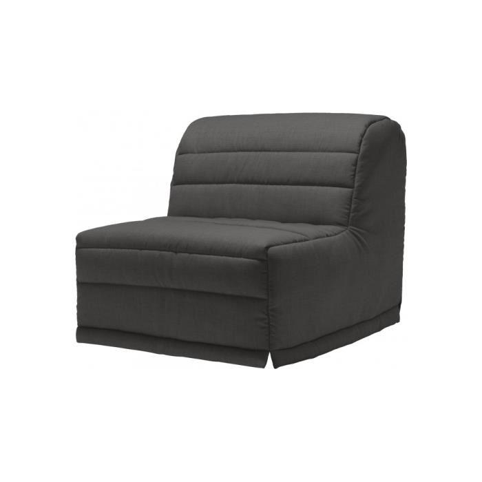banquette bz tissu chiné gris matelas 90×190 sofaconfort mousse
