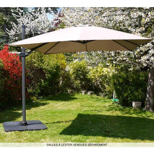 Parasol deporte topiwall - Parasol rectangulaire deporte inclinable ...