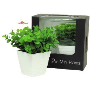FLEUR ARTIFICIELLE Coffret de 2 plantes vertes artificielles Déc?