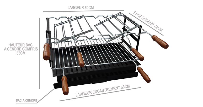 Barbecue Multifonctions Grand Luxe Équipé D?UN Four À Bois Ø90CM