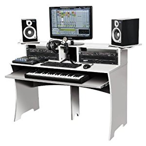 Accessoires home studio GLORIOUS DJ WORKBENCH WHITE Mobilier de Studio