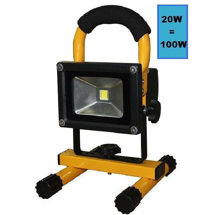 PROJECTEUR LED RECHARGEABLE 20W Achat / Vente projecteur extérieur