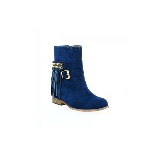 Zaza Pata Bottines compensées à franges bleues 41 Bleu Autres