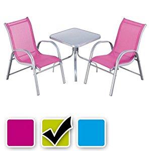 Noname 39719 Ensemble Table et Chaises Bistrot pour Enfant 3 pièces
