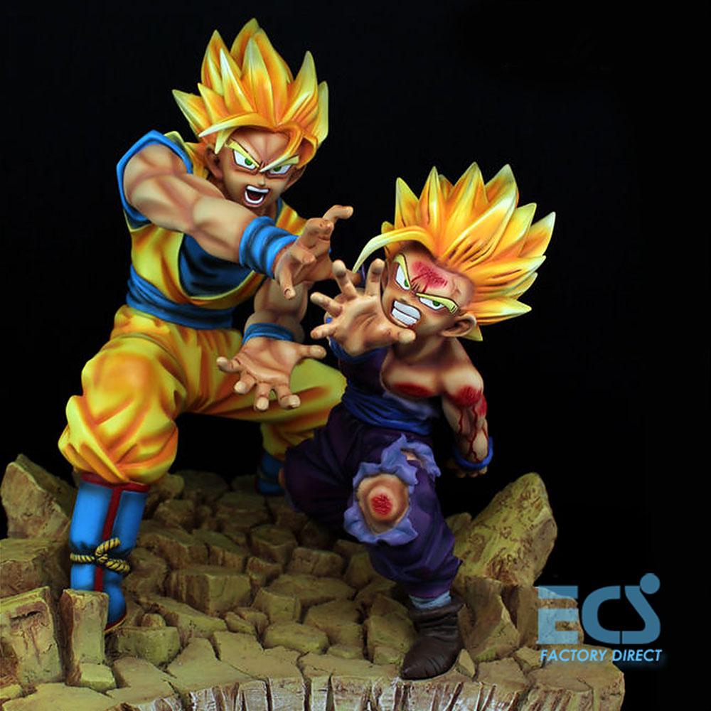 Dragonball Z Kai Father Son Goku Gohan Kamehameha Resin Diorama Statue