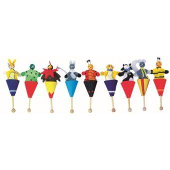 Legler Marionnettes Avec Cornets Env 10 Cm De Haut. Lot De 9 pas