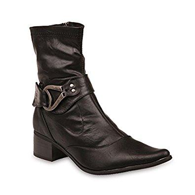 La Modeuse Bottine bout pointu mat noir: Chaussures et Sacs