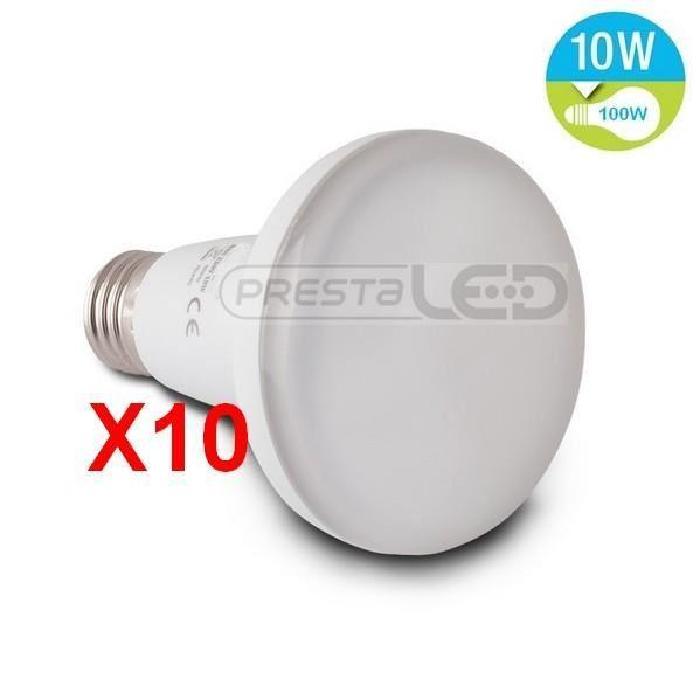 10 AMPOULE LED E27 R80 10W BLANC FROID Achat / Vente ampoule led