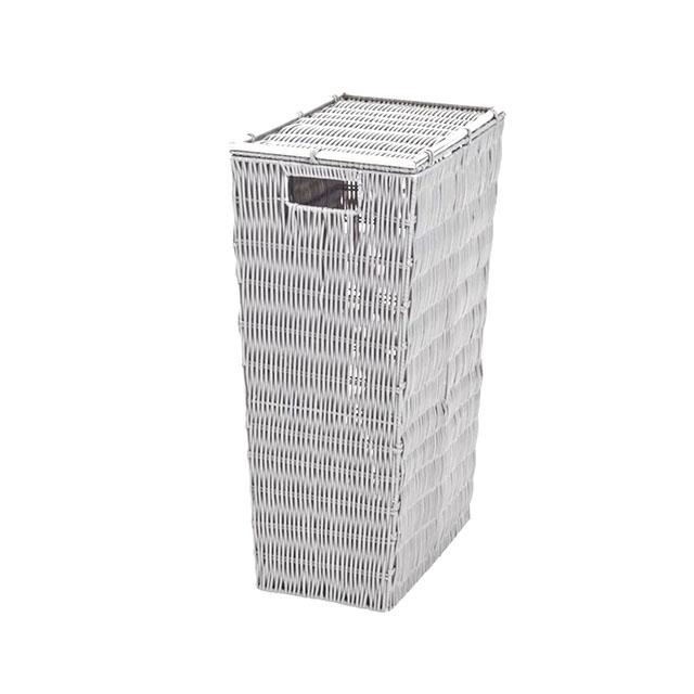 Panier à linge blanc 22 x 53 cm Slim Boston CASTORAMA