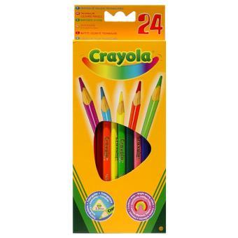 Boite de 24 Crayons de Couleur Crayola Crayon de couleur et feutres