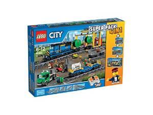 LEGO CITY TRAIN 66493 SUPER PACK 4 EN 1 (60052 + 7499 + 7895 + 60050