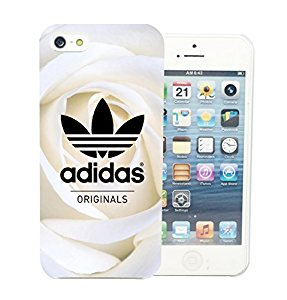 Coque iPhone 5 5G 5S Adidas Vintage Roses Blanche Luxe Swag étui