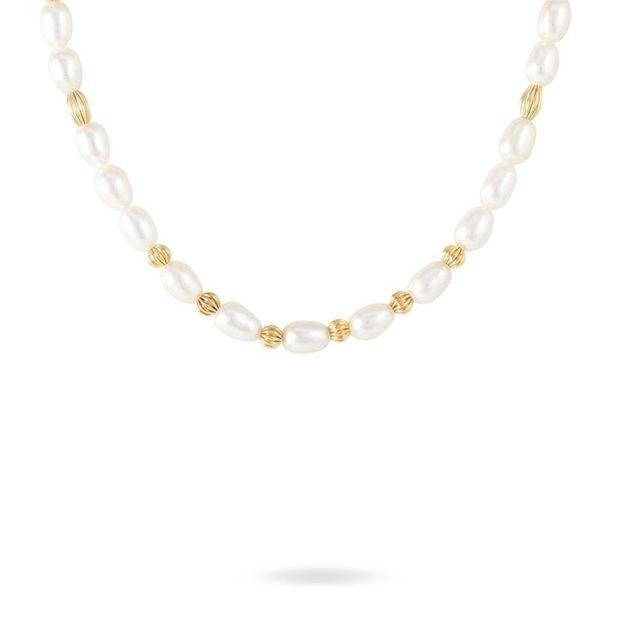 jaune 375 1000 perles de culture 5 5 6mm grain de riz boules or 42cm