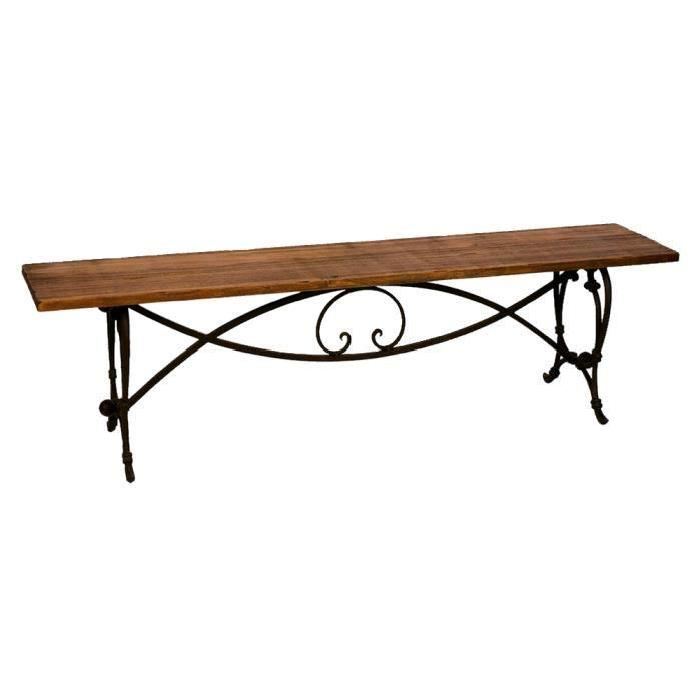 Banc de jardin en fer forge topiwall for Banc de jardin en fer forge
